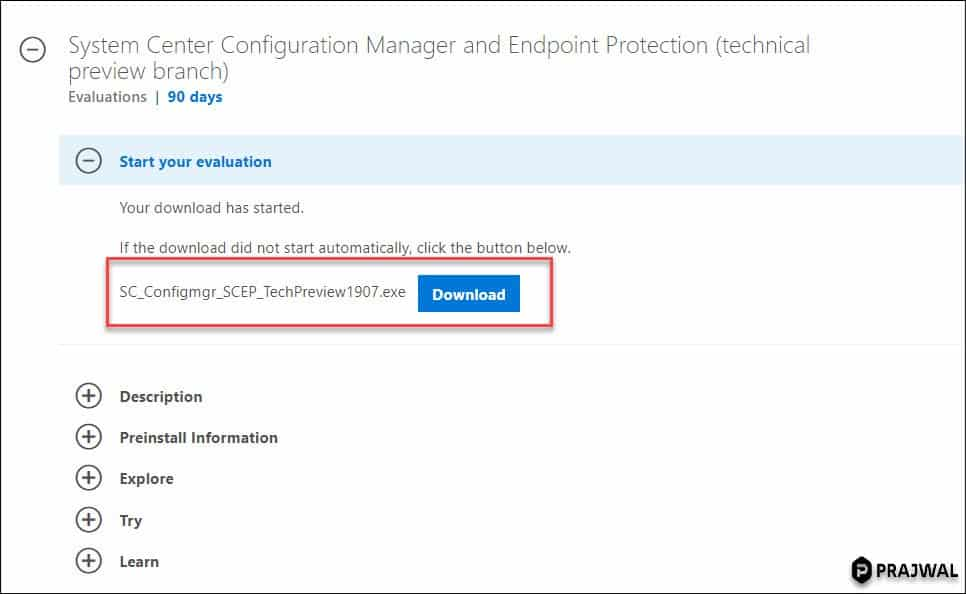 Download SCCM Technical Preview 1907