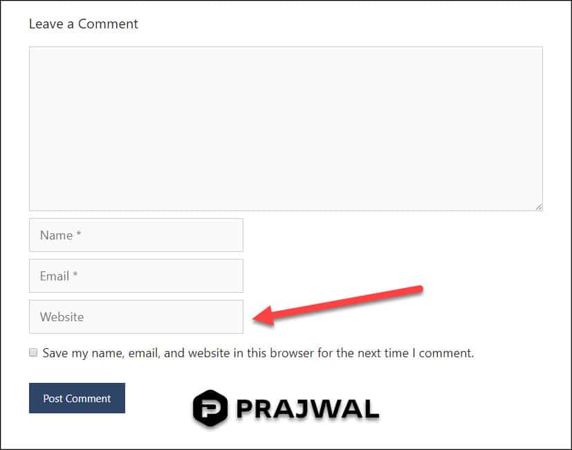 Remove Website URL From WordPress Comments