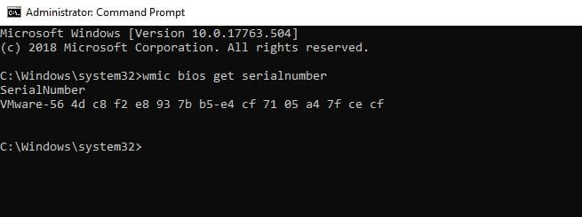 Find Computer Serial Number