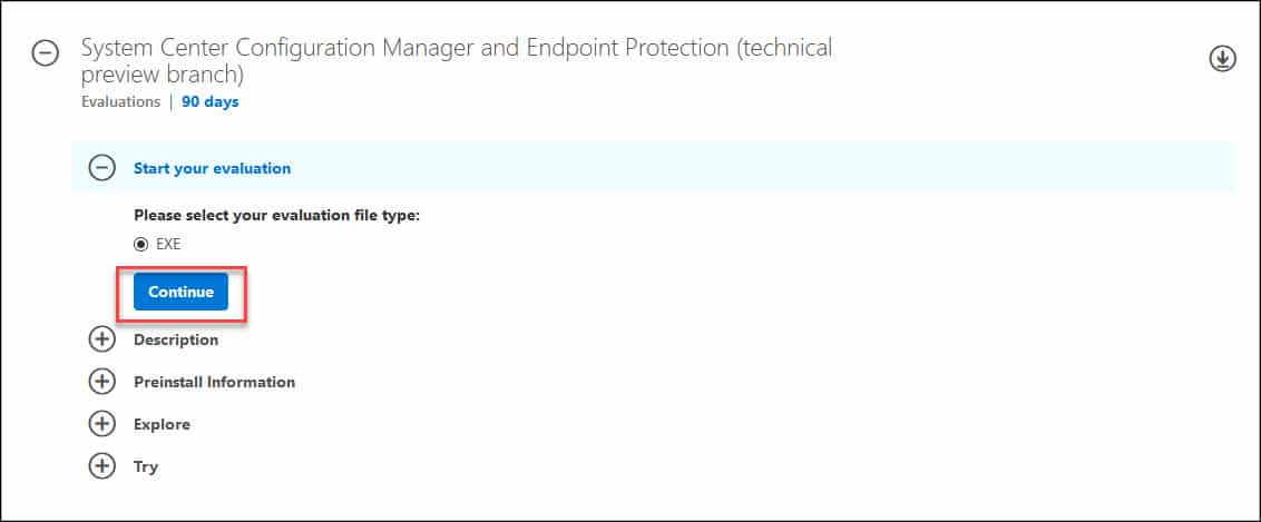 Download ConfigMgr Technical Preview 2002