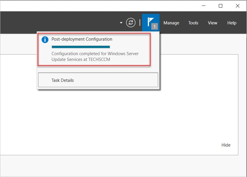 SCCM SUSDB - WSUS Post Installation Tasks