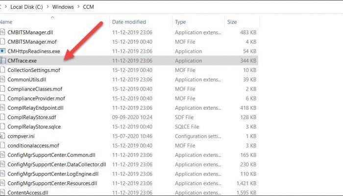 CMTrace Log File Viewer Location