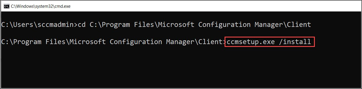 Manually Install SCCM Client Agent