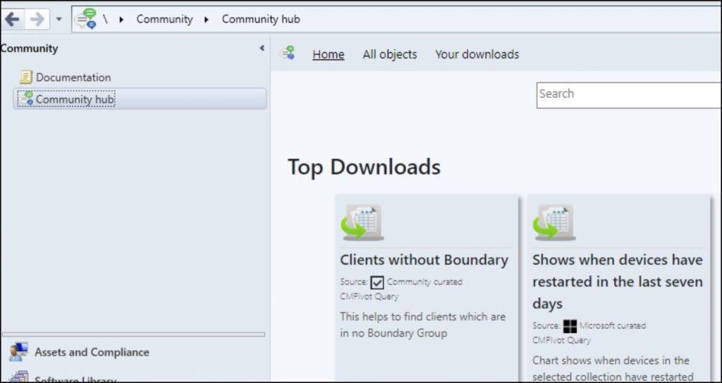 Configuration Manager Community Hub
