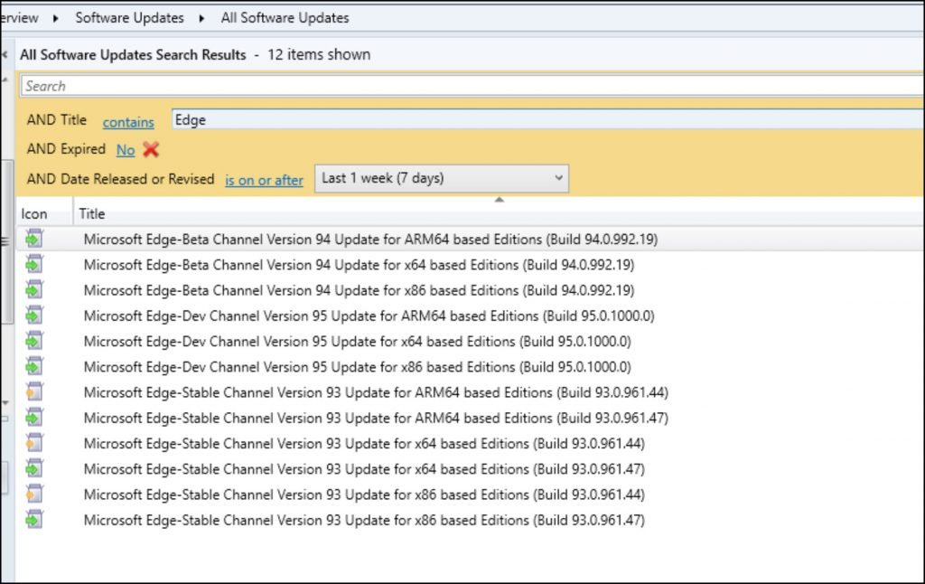 Microsoft Edge Browser Updates