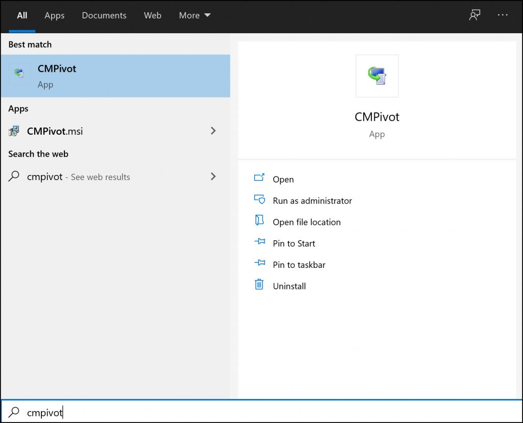How to Install SCCM CMPivot Standalone Application