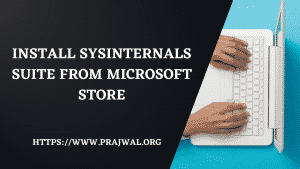 Install SysInternals Suite from Microsoft Store
